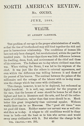 gospel of wealth andrew carnegie essay The gospel of wealth andrew carnegie no preview available - 2014 the gospel of wealth and other timely essays andrew carnegie no preview available - 2016.